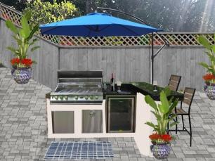 e-Design of BBQ area