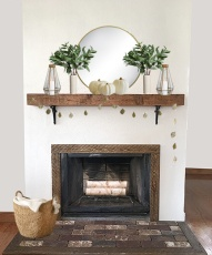 Mantel all dressed up for Fall