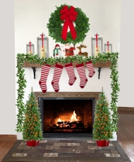 Mantel all dressed up for Christmas